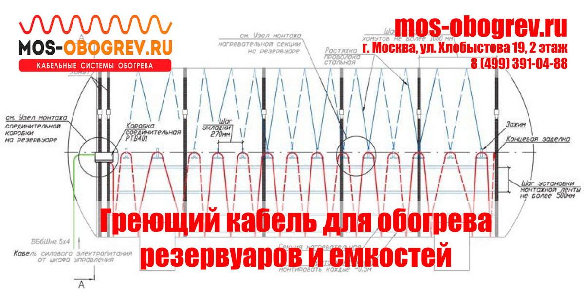 Купить греющий кабель для обогрева резервуаров и ёмкостей недорого | Mos-Obogrev.ru